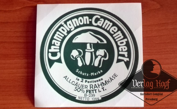 Finally one of the famous Camembert cheese labels are available.