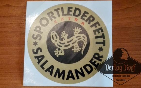 Label for Lederfett (leather grease) tin.