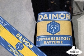 Old Daimon Battery Label